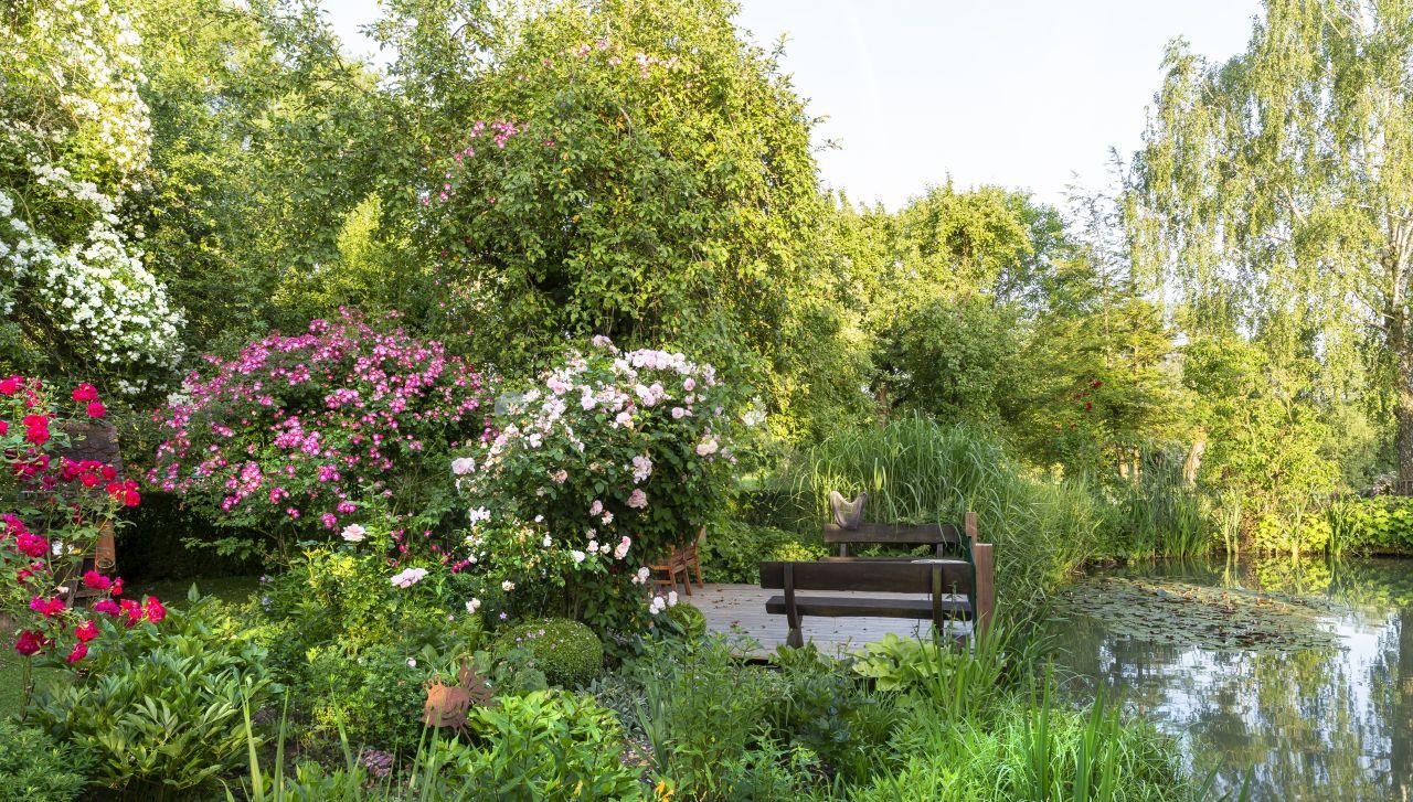 Garten der Familie Kallip in Rothenburg ob der Tauber