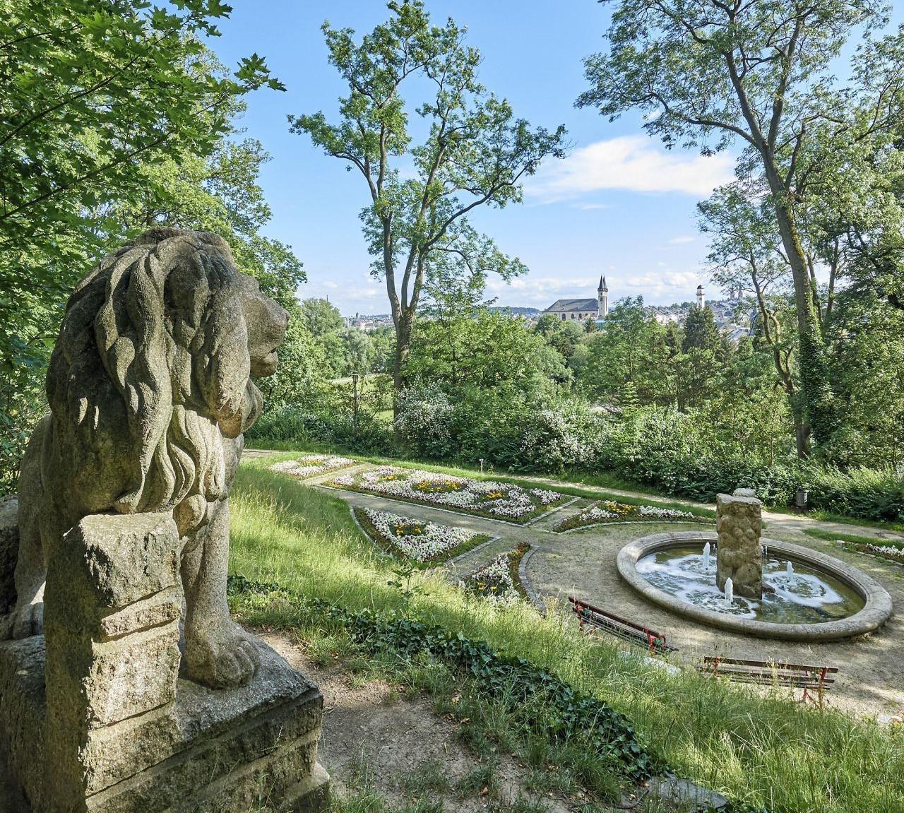 Des Bürgerpark Theresienstein in Hof gilt als einer der schönsten Bürgerparks Deutschlands.